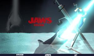 Jaws Hyper Beam 3D Wallpaper by davislim