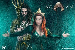 Aquaman and Mera Movie Wallpaper by Bryanzap
