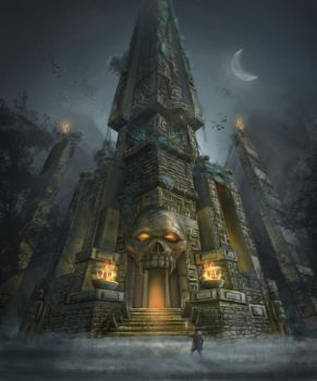 Skull Temple by lukkar
