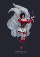 Ahri by ayzhelf