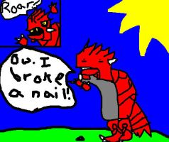 groudon broke a nail. by Epic-Oddish123
