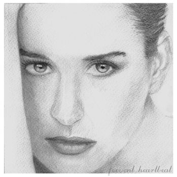 Demi Moore in pencil by jovee