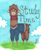 Study Time Alpaca by MsCappuccino
