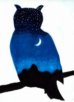 Owl Twilight Silhouette by Yve4882