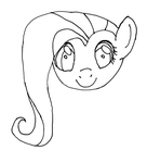 Quick Fluttershy Lineart by eyecreate89
