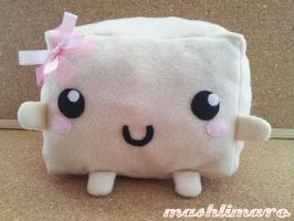 Tofu with Ribbon Plush by mashlimaro