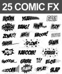 25 Comic Sound FX (Vector Set) by pushaloo