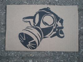 Gas Mask Stencil by SoLKoNE