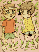 cute lil kids commission by Mebuu