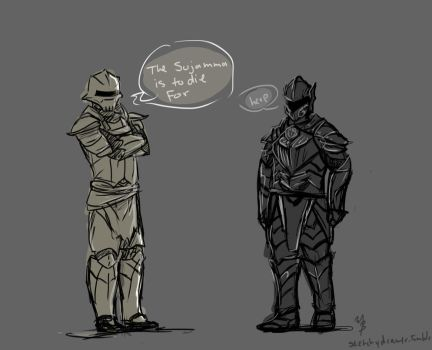 Redoran guard and Ebony warrior by zetsumeininja