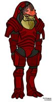 Wrex Outline by Jigg007
