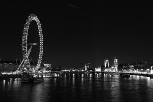 London Eye and Parliament by Elessar91