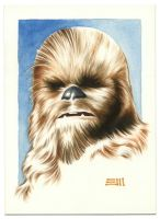Chewbacca Commissioned Painting by Erik-Maell