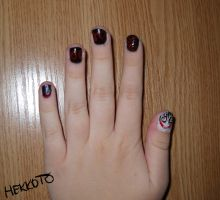 Jeff the Killer nails by Hekkoto