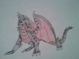 art trade: dark fire dragon by vivere-sectam129