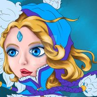 DOTA 2 CHIBI - CRYSTAL MAIDEN (PAINTING) by hothanhlamleok