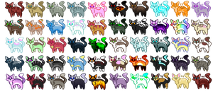 Cat Adopts (CHEEP) (OPEN) (ONLY 6 LEFT!) by silverXdragonADOPTS