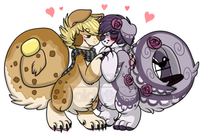 YCH: Valentines day Bowie and Poe by Boltonartist