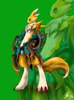 Monster Hunter Renamon by kaizer33226