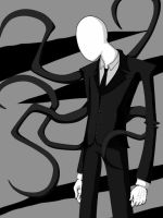 Digital: Slender Man by EPICBLUEFACE22