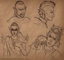 ESO Sketches III by SlayerSyrena