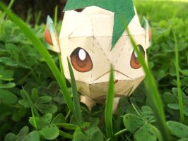 Leafeon papercraft 3 by Alicss