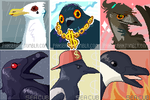 Evil Bird Squad - COLLAB icons by PANS0L0