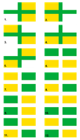 First group of options for the Extremadura Flag by Clawfiren
