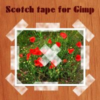 Scotch tape brushes for Gimp by Lucida
