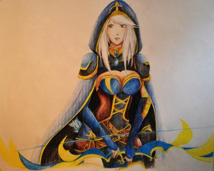 Ashe-Freljord by lycoris-vampire