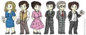 The Hour characters by BeckyBumble