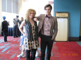 The Doctor and River at Connecticon 2012 by PsychoBabble192