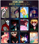 2015 Art Summary by KitsuneZakuro