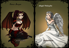 Demon vs. Angel by Death-obsession