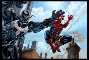 Spiderman Venom color by VinRoc