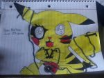 Pikachu in BVB war paint by samibvb96