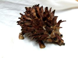 Hedgehog PineScale Sculpture by LostButterfly92