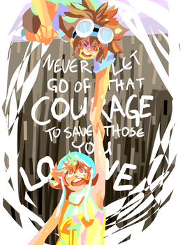 Courage/Love by Burbs-chan