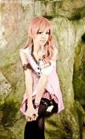 Serah Farron sit by Ryuux3
