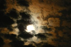 Moon with Clouds by PatGoltz