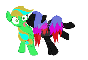 collabe with  zoeyesoftpaws by Loveheart-the-pony