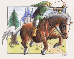 Link and Epona by AustriaUsagi