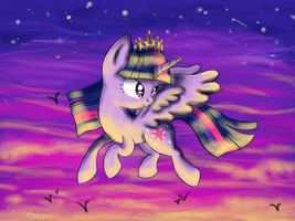 Evening Flight by serra20