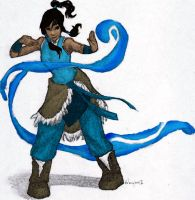 Korra by burdgebug colored by cheesebucket100