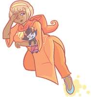Homestuck- Tired Gay Rose Lalonde by DubiousDerringer