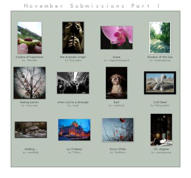 November submissions Part I by photo-genius