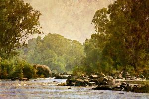 Misty river by EMCoetzee