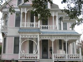 Pink Victorian by Structure-Stock