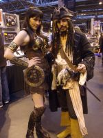 Xena and Captain Jack by lunamaxwell