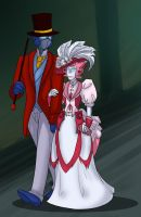 TF - Victorian Elita and Optimus by liliy
